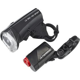 Trelock LS350 I-GO Sport + LS710 REEGO - Kit éclairage vélo - set de lampes noir